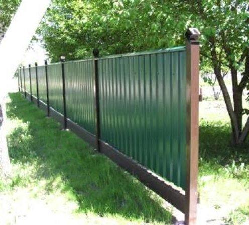 Забор на дачу недорого